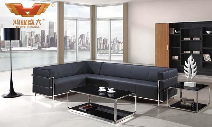 L型办公沙发 皮质办公沙发 办公室沙发 办公沙发 直销HY-S989