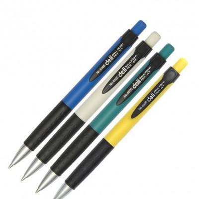 南京办公学习文具 得力6505按动圆珠笔 蓝色