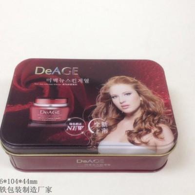 面部护理铁盒 玫瑰水嫩滋养晚安面膜包装盒 化妆品铁盒包装