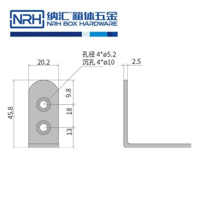 纳汇/NRH7632-45-SUS304 五金包边 广告箱包角 铝箱包边 灯光箱包角