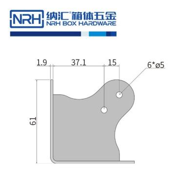纳汇/NRH7301-60 木箱护角 铝箱包边 重型木箱包角 工具箱包角 方包角