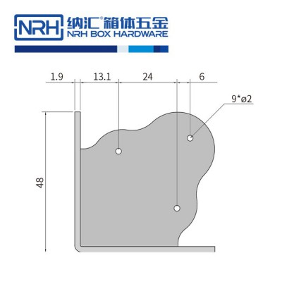 纳汇/NRH7301-47 木箱包角 灯光箱包角 箱包护角 工具箱包角 箱包五金包角