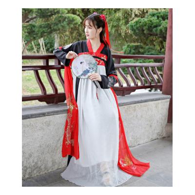 会员价139元传统汉服女成人齐胸襦裙中国风复古改良刺绣仙女服学生摄影服